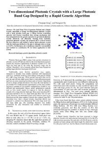 Two-dimensional Photonic Crystals with a Large Photonic Band Gap Designed by a Rapid Genetic Algorithm