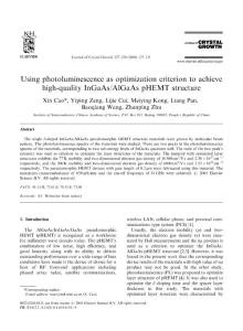 Using photoluminescence as optimization criterion to achieve high-quality InGaAsAlGaAs pHEMT structure