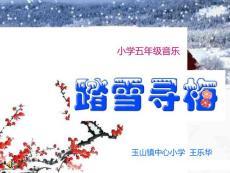 【小学教育】玉山王乐华-小学音乐《踏雪寻梅》