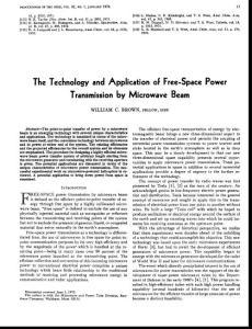 微波输能技术应用研究