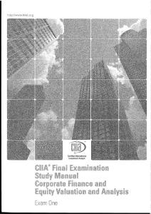 CIIA 經典 Equity Valuation and Analysis