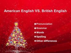 【外语学习】英音美音比较ppt模版课件