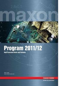 MAXON MOTOR 产品手册(2011-2012)[上]