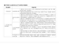 重庆市煤矿企业落实安全生产主体责任实施细则