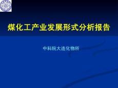 煤化工产业发展形式分析报告