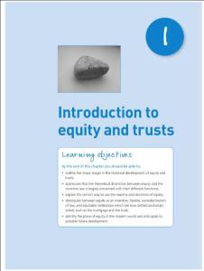 Introduction to equity and trust