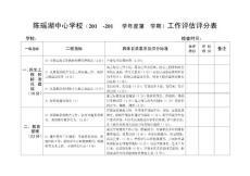 陈瑶湖中心校学校工作评估表(2012修订稿)