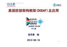 DODAF(美国国防部架构框架)介绍及应用
