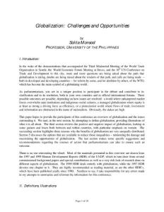 Globalization Challenges and Opportunities