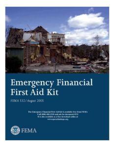 EMERGENCY FINANCIAL FIRST AID KIT (EFFAK) - OPERATION HOPE