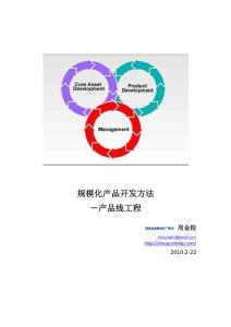 规模化产品开发方法-产品线工程
