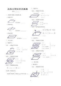 高中立体几何基础知识点全集(图文并茂).doc