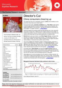 20120722-Macquarie-Director's Cut:China consumers cheering up-120713