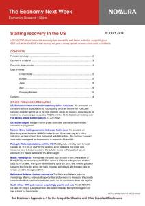 20120724-Nomura-The Economy Next Week:Stalling recovery in the US-120720