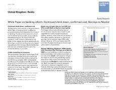 20120725-Goldman Sachs-United Kingdom: Banks:White Paper on banking reform-120718