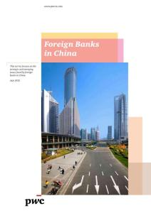 PWCCN 2012 Foreign banks in China