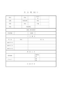 【简历模板】2012年优秀个人简历模板精华集合(免费下载)(最新整理By阿拉蕾)