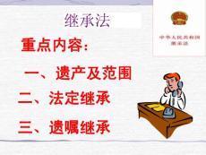 继承法(培训讲座课件PPT)