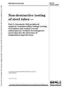 BS EN 10246-5 2000(英文版) Non-destructive Testing of Steel Tubes- Part 5