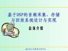 基于dsp的音频采集、存储与回放系统设计与实现