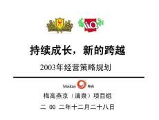 梅高广告-燕京(漓泉)持续成长新的跨越2003年经营策略规划