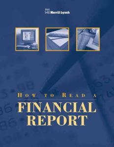 美林 how to read a financial report.