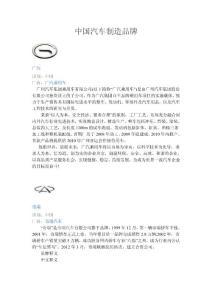中國汽車制造品牌.doc