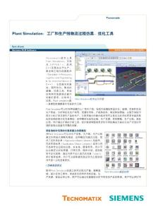 Plant Simulation:工厂和生产线物流过程仿真、优化工具