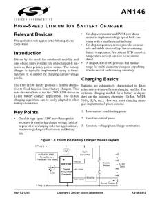 High-Speed Lithium Ion Battery Charger