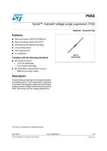 Transil   transient voltage surge suppressor (TVS)
