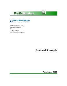 pathfinder 疏散软件入门教程 stairwell 楼梯绘制
