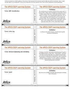 APICS CSCP 復習卡