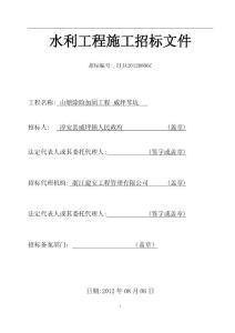 水利工程施工招标文件