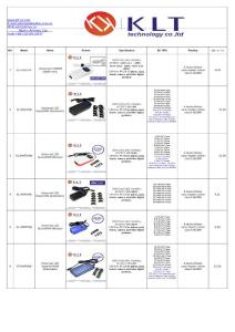 KLT universal laptop adapter price list
