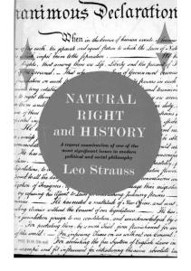 Strauss_Natural Right and History