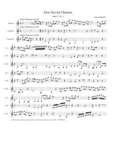 单簧管谱子