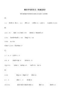 英语辅音字母的含义