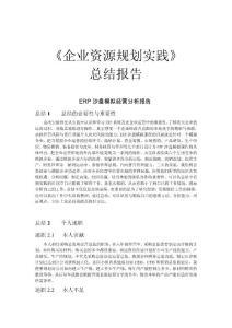ERP企业模拟经营总结报告
