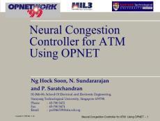 最全的OPNET 系统级仿真建模 网络仿真建模软件 opnet work99培训材料
