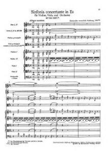 莫扎特作品集V 协奏曲集 K.364 降E大调交响协奏曲 Morzat Sinfonia Concertante in E-flat major for Violin  Viola and Orchestra 琴谱 乐谱