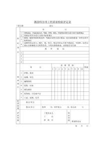 薄涂料分项工程质量检验评定表