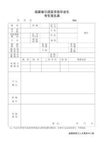 福建省引进医学类毕业生