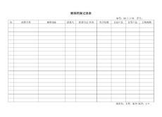 7.2-04顾客档案记录表