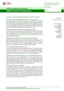 瑞银-以色列天然气研究