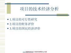 项目的技术经济分析培训