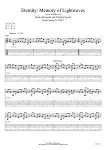 最终幻想10-2 - 久遠~光と波の記憶~(久远~光与波的记忆 Eternity Memory of Lightwaves)吉他谱[][12801]