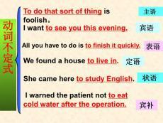 高中英语不定式专题复习