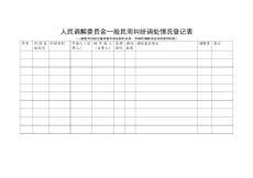 人民调解委员会一般民间纠纷调处情况登记表