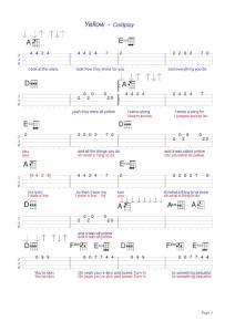 Yellow ukulele谱