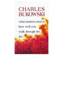 Charles Bukowski - Burning in Water Drowning in Flame (epub)